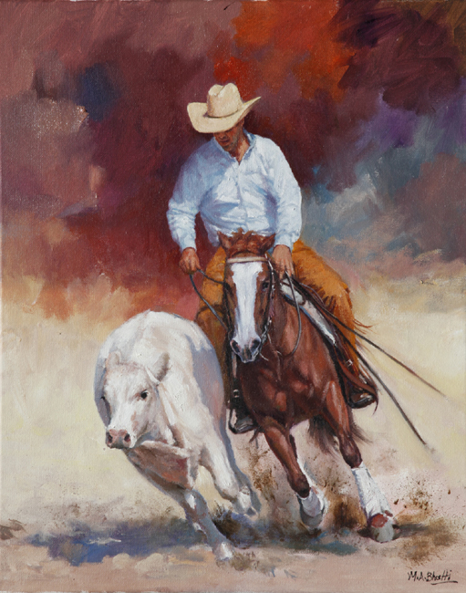 Round Up Time | Oil on Canvas | 20 x 16
